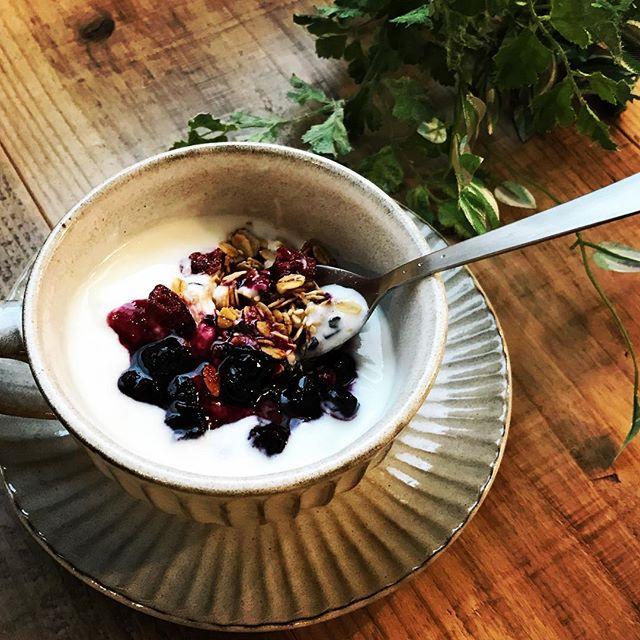 新メニュー「オーガニックグラノーラ」軽〜く小腹がすいたときに、サクッと食べてほんの少しお腹を満たしてくれるメニューも追加します。 ※デザイナーさんへこれも差し替えです〜 #上尾カフェ #グラノーラ #オーガニック #小腹が空いた #サクッと #ハーブティー専門店 (Instagram)