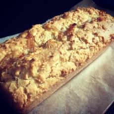 久しぶりに米粉パウンドケーキ