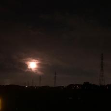 見上げたら満月#満月 #